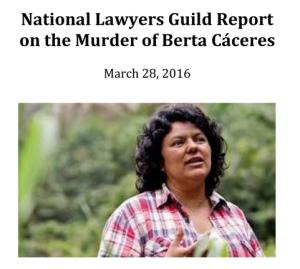 Berta Caceres Report cover