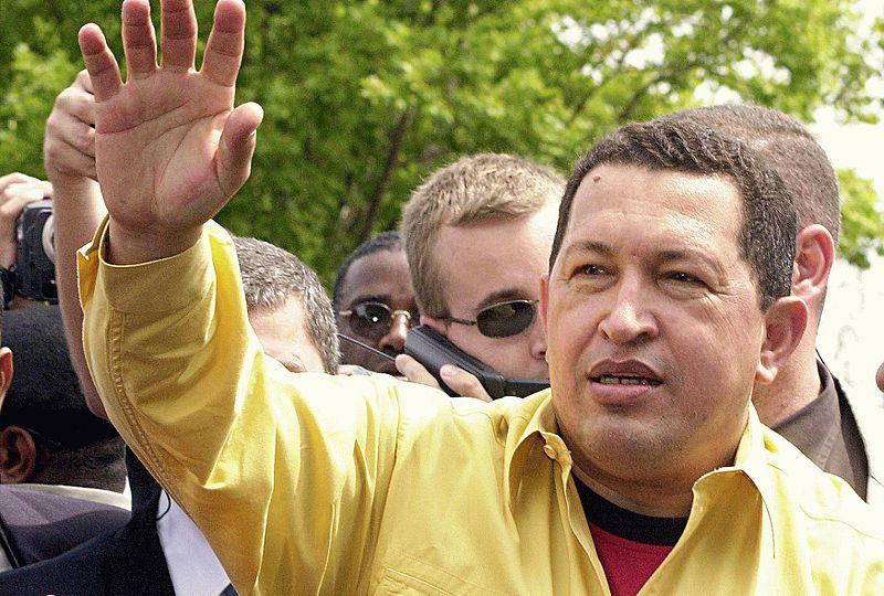 Hugo Chávez in Brazil, 2003. (Victor Soares - ABr - Agência Brasil)